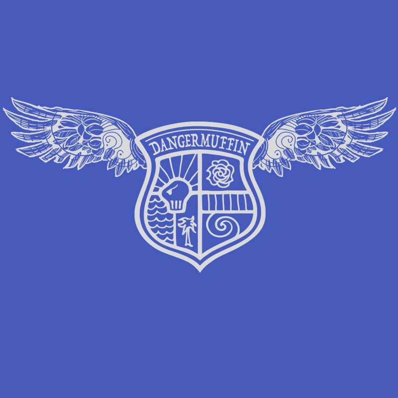 DANGERMUFFIN WINGED-LOGO-ON-BLUE-SQUARE